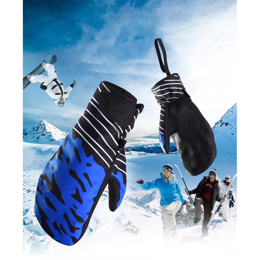 Mounchain 1 Pair Winter Women Men Snowboard Gloves Sports Warm Velvet Thermal Windproof Ski Snow Motorcycle Gloves S/ M/ L