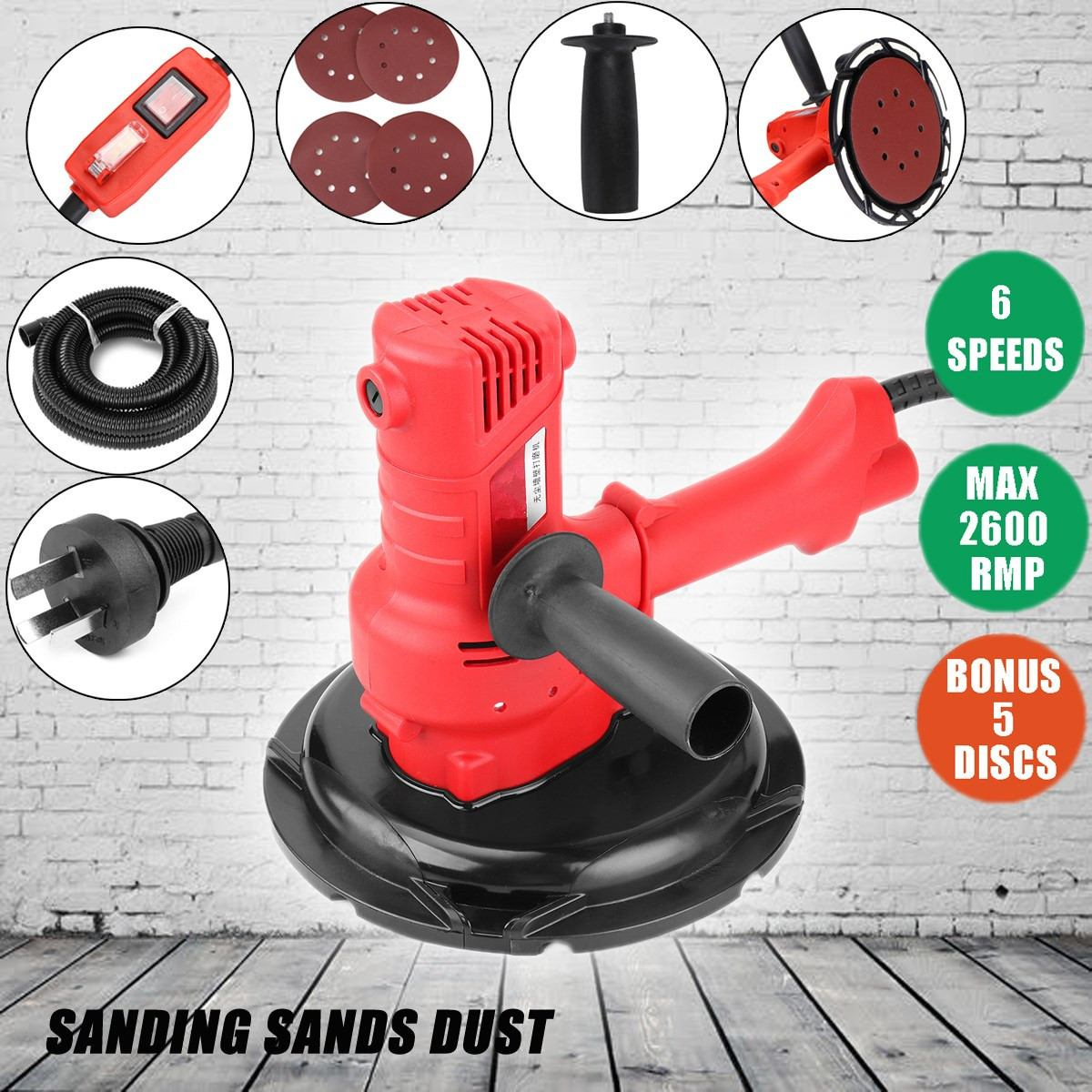 Doersupp AC220V 2600rpm Wall Grinding Machine Portable Vacuum Clean Type Dry Wall Sander With A Set Accessories Power ToolsDoersupp AC220V 2600rpm Wall Grinding Machine Portable Vacuum Clean Type Dry Wall Sander With A Set Accessories Power Tools