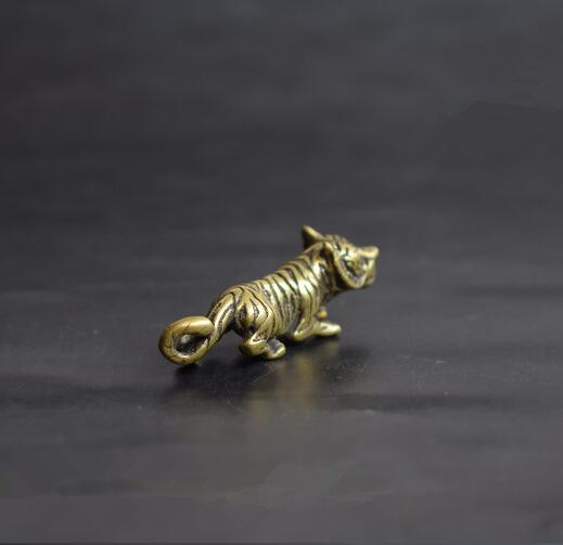 Chinese pure brass tiger Small pendant