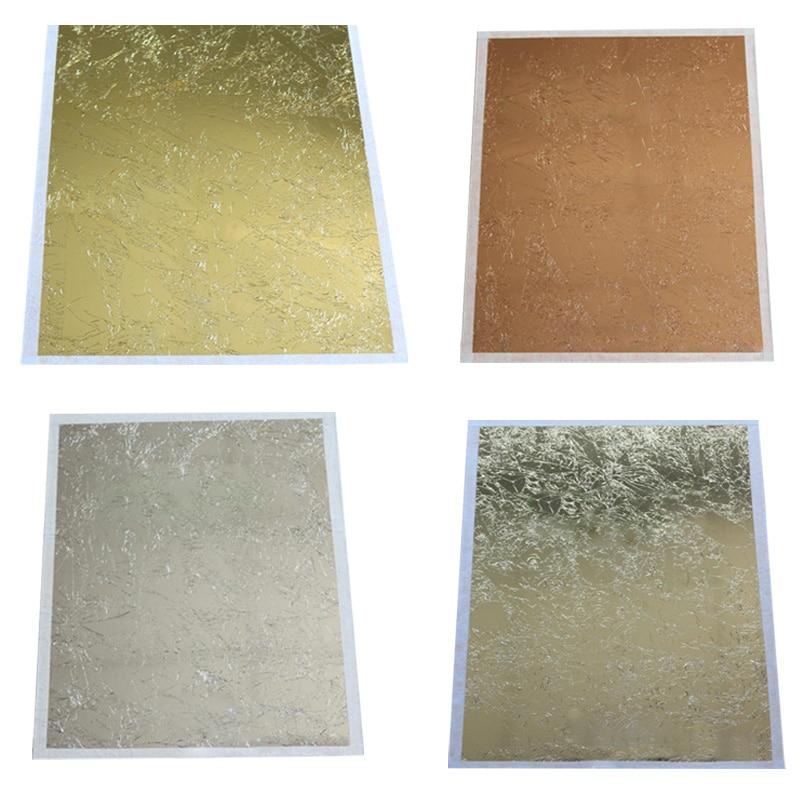 14 14cm Art Craft Diy Craft Decor Leaf Leaves Sheets Design Paper 100pcs Gilding Foil Papers Imitation Gold Sliver Copper Big Promo 48bf7f Cicig
