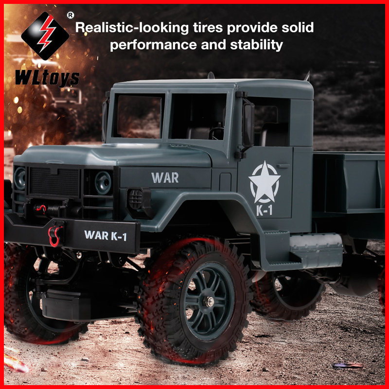 WLtoys 124302 RC Car 1:12 2.4GHz 4WD Full-Scale Speed 1200G Load Military Off-road RC Cars Toys for Children Kids ToyWLtoys 124302 RC Car 1:12 2.4GHz 4WD Full-Scale Speed 1200G Load Military Off-road RC Cars Toys for Children Kids Toy