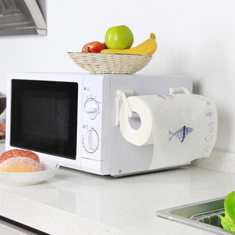Creative Adjustable Toilet Paper Holder Magnet Towel Rack White Towel Holder Paper Roll For Kitchen Bathroom Kitchen Accessory 5