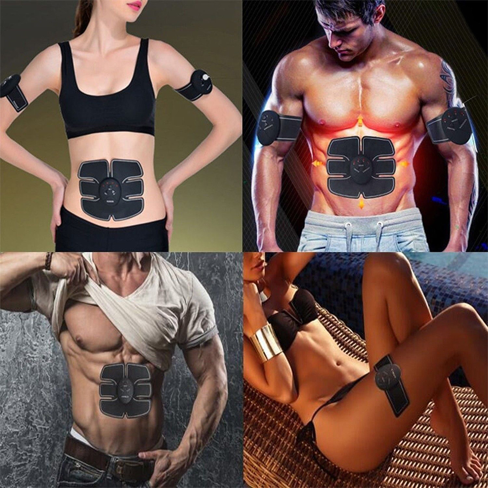 EMS Wireless Muscle Stimulator Trainer Smart Fitness Abdominal Training Electric Weight Loss Stickers Body Slimming Massager 3