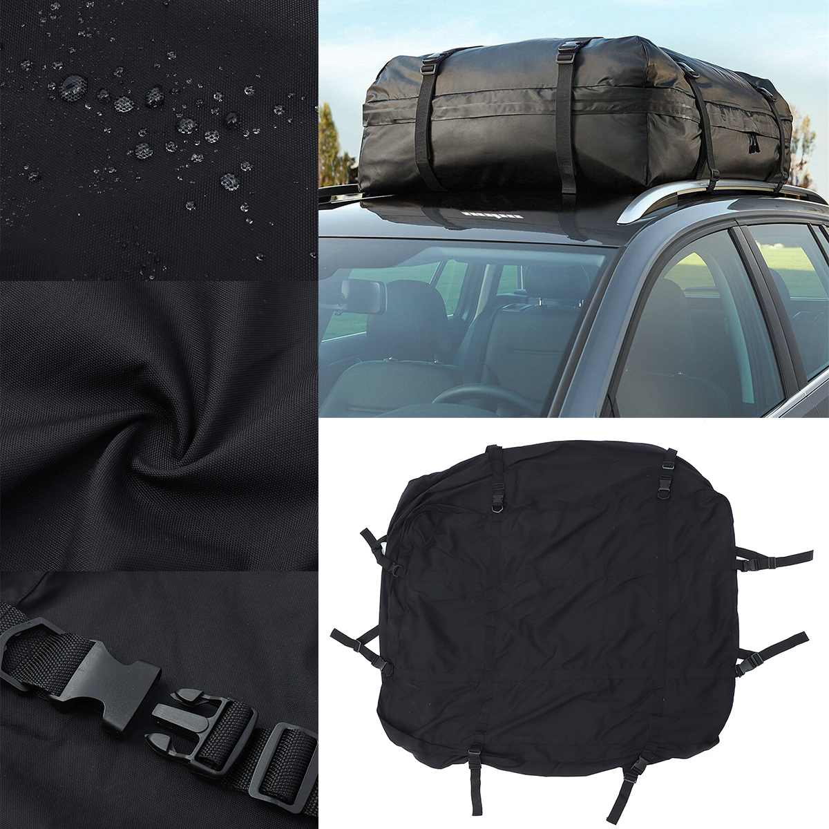 112x86x43 Cm Waterproof Cargo Luggage Travel Bag Car Roof