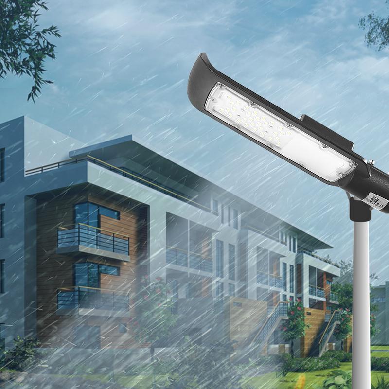 1 قطعة 30 واط/50 واط AC85-265v مصباح ليد للشارع مع غلاف أسود مقاوم للماء IP65 الطريق مصباح الحديقة ضوء أبيض أضواء LED الشارع
