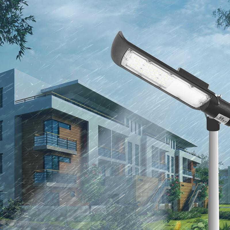 1Pcs 30w/50w AC85-265v LED Street Light with Black Casing Waterproof IP65 Road Garden Lamp White Light Led Spotlights Streetligh