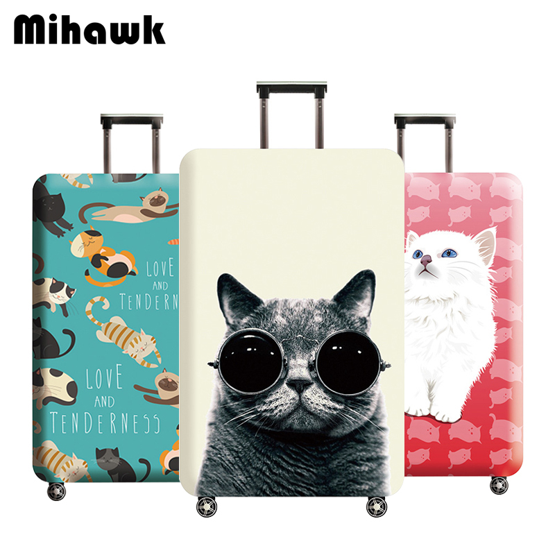 Mihawk Cartoon Travel Luggage Protective Cover Protector Stretch Fabric Baggage Dust Bags Suitcase Dustproof Pouch Accessories