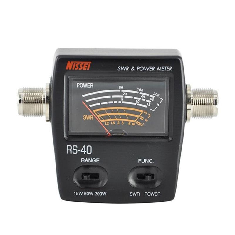 Rs-40 Swr/compteur de puissance 140-150 Mhz 430-450 Mhz 200 W pour talkie-walkie NisseiRs-40 Swr/compteur de puissance 140-150 Mhz 430-450 Mhz 200 W pour talkie-walkie Nissei