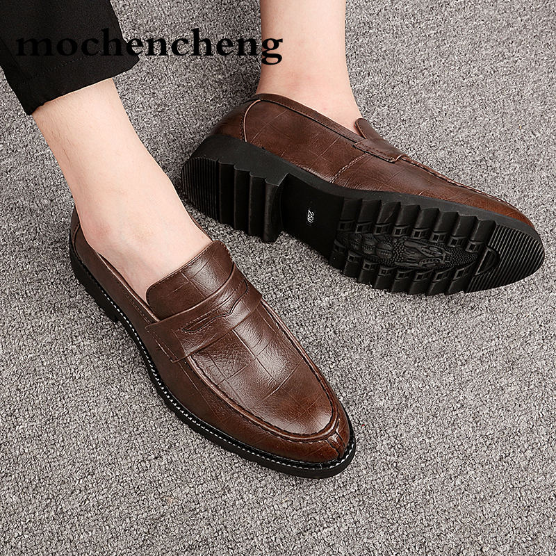 Hommes robe chaussures en cuir formelle affaires hommes Oxfords chaussures mariage fête Brogue chaussures