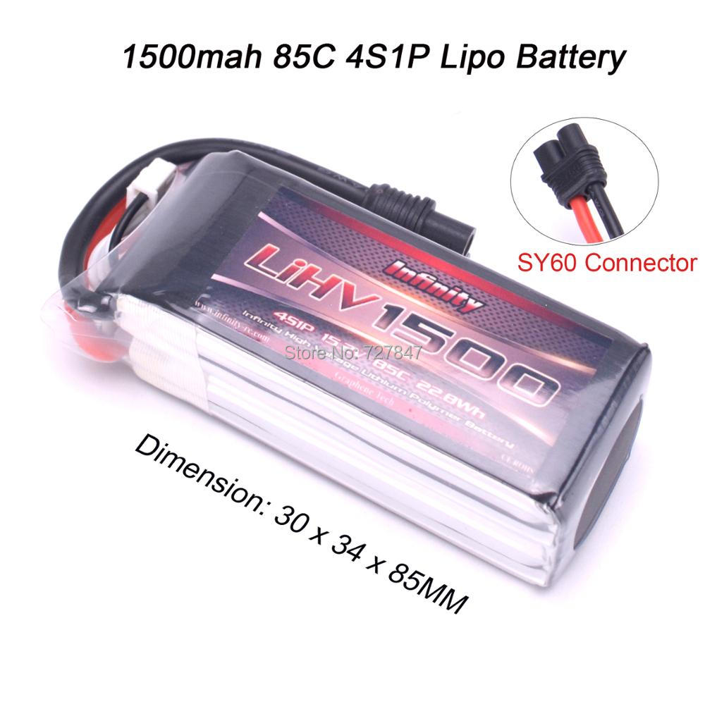 Rechargeable High Quality for Infinity LIHV <font><b>1500mAh</b></font> <font><b>4S</b></font> 85C 15.2V 22.8Wh <font><b>Lipo</b></font> Battery for RC Racing Racer Power Spare Parts image