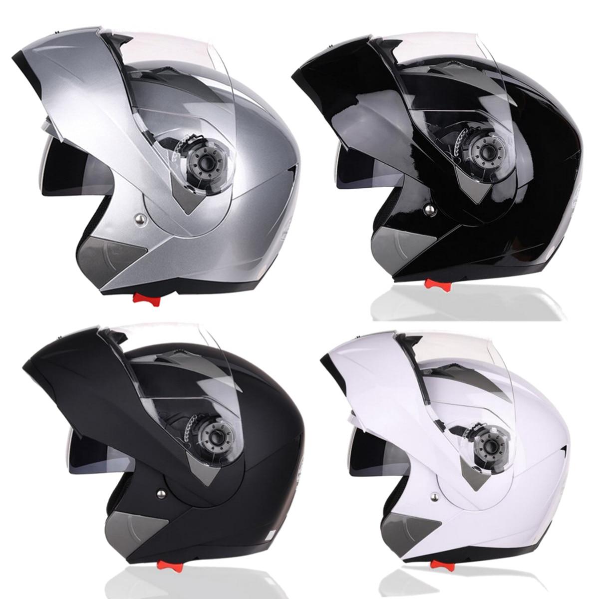 Grand SV casque de moto intégral modulaire Flip Up avant moto Crash casque pare-soleil 4 couleurs engrenages de protection