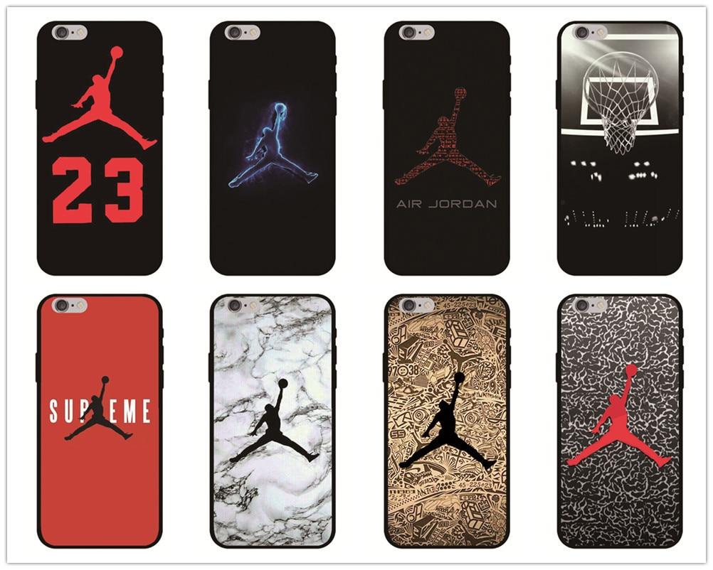 431d4e31881 Jordan 23 Phone Case For Iphone X Xs Max Xr 10 Ten 8 7 6 6s Plus 5 5s Se  Black Soft Silicone TPU Cover Basketball Sports Coque