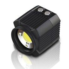Mini światło led do kamery nurkowanie lampa fotograficzna IPX8 podwodne 60M wodoodporne oświetlenie rowerowe do lustrzanki cyfrowe DJI Drone GoPro