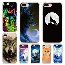 Animal Wolf Cover For iphone X XR XS MAX 4 4S 5 5S SE 6 6S 7 8 9 Plus For iPod Touch 6 Phone Case Coque(China)