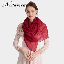 Neelamvar Fashion brand New Women Plain Color Scarf Hollow out Fringe Cotton Shawls solid scarves echarpe all-match hijab