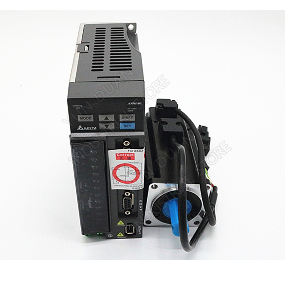 New 400W B2 Delta AC servo with brake 0.4KW 1.27NM 3000rpm 60MM ASD-B2-0421-B ECMA-C20604SS motor drive kit & 3m Cable