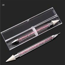 NEW Double-ended Nail Rhinestone Picker Wax Pen Gel Manicure Tool Dotting Pencil Art tools