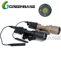 Greenbase Tactical SF M951 LED Version Super Bright Flashlight Weapon Lights With Remote Pressure Switch 20mm flashlight