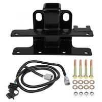Rear Trailer Receiver Hitch & Wire Harness Kit 6000 lbs Trailer Weight Q235 Manganese Steel for Jeep Wrangler JK 2007 2018