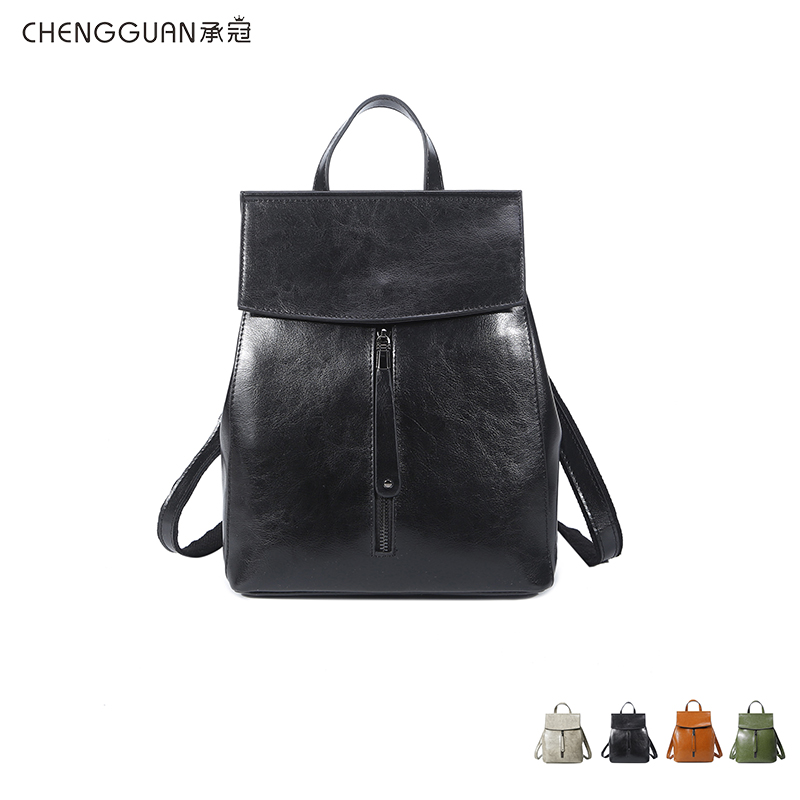 fashion quality chengguan 2688 genuine leather leisure backpack simplicity  comfortable high-capacity practical workmanship 2019