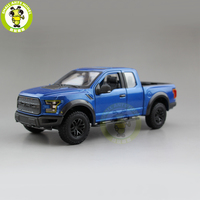 1/24 Maisto Ford F150 F 150 Raptor 2017 Pickup Truck Diecast Metal Car Model Toys for kids Boy Girl Gift Collection Blue