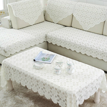 Modern Rectangle Hollow Out Multipurpose Lace White Table Cloth Moon Television Cover Mat Concise Christmas Wedding Decoration