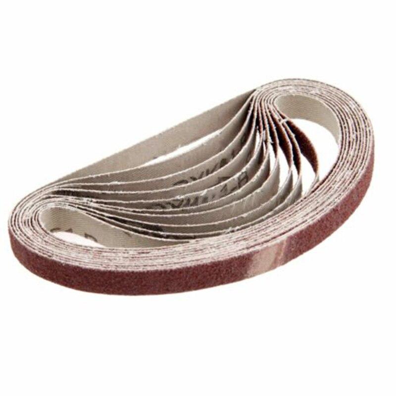 10pcs/Set Abrasive Sanding Belts 40/60/100/120/150/180/240/320/400/600 Grit Sander Grinding Polishing Tools 330*10mm