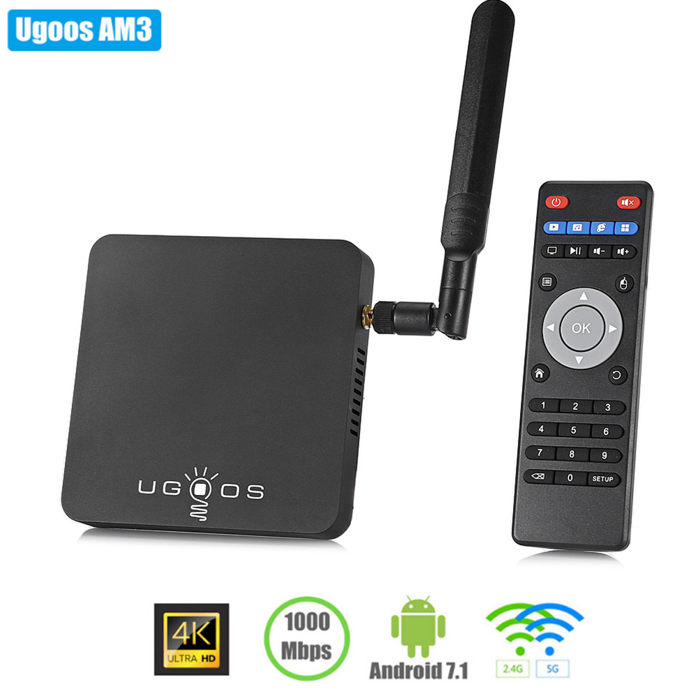 UGOOS AM3 Smart TV Box Amlogic S912 Android7.1 2GB RAM + 16GB ROM 2.4G + 5G WiFi 1000Mbps BT4.0 Support 4K H.265UGOOS AM3 Smart TV Box Amlogic S912 Android7.1 2GB RAM + 16GB ROM 2.4G + 5G WiFi 1000Mbps BT4.0 Support 4K H.265
