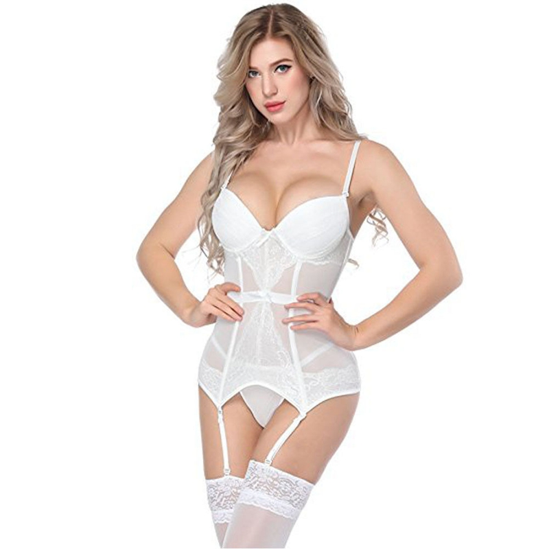 Womens Sexy Babydoll G-String Lace Lingerie Set Ladies Nightwear Underwear Tops Sets Plus Size