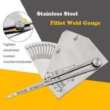 Fillet Weld Gauge Stainless Steel Weld Inspection Ruler Mechanical Thread Debugging Mold Inspection tracy weld flirdi minuga