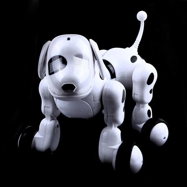 Télécommande sans fil smart robot chien Wang Xing chien électrique éducation précoce jouets éducatifs pour enfants (blanc) - 5