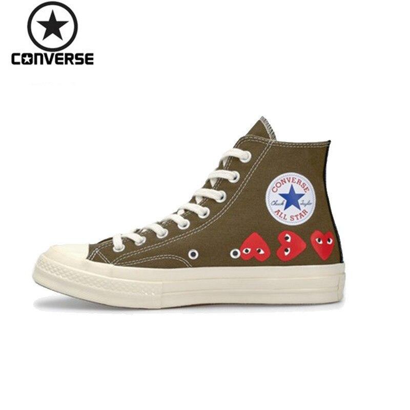 Converse 1970 s x CDG Play hommes et femmes chaussures de skate respirantes baskets d'extérieur # 162973C