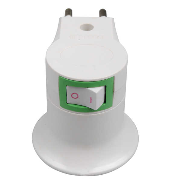 CLAITE E27 Socket Base EU Plug Night Light With Power On-off Control Switch E27 lamp holder bulb holder lamp base NEW