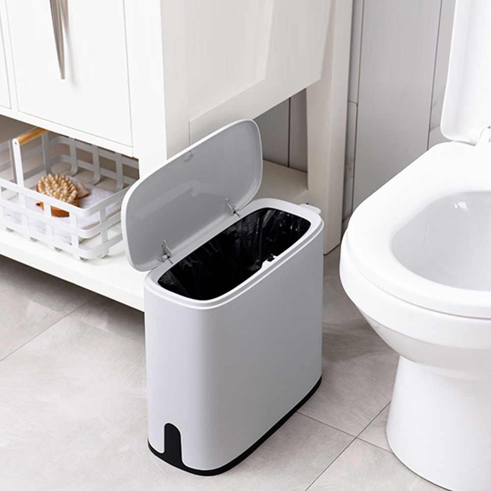 Многофункциональный 11L пластиковый узкий тип мусорный бак туалетный дежатель для мусоного ведра корзина мусорное ведро щетка для чистки ванной комнаты
