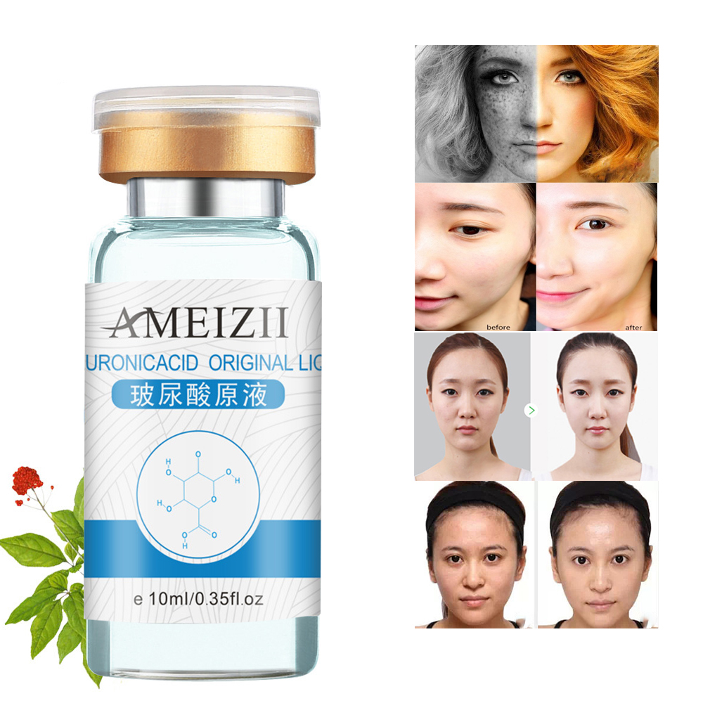 AMEIZII 1Pc 10ml Pure Hyaluronic Acid Skin Care Moisturizing Whitening Anti-wrinkle Cream Anti-aging Facial Lifting Visage TSLM2