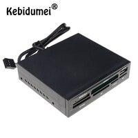 Kebidumei-Lector de tarjetas multifunción todo en 1, USB 2,0 3,5 y quot Bay, Panel frontal, tarjeta de memoria Flash USB