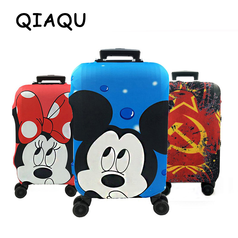 Elastic Dust Cover Cartoon Minnie Mickey Couples Luggage Cover 18-32 Inch Travel Suitcase Protective Sleeve Travel Accessories