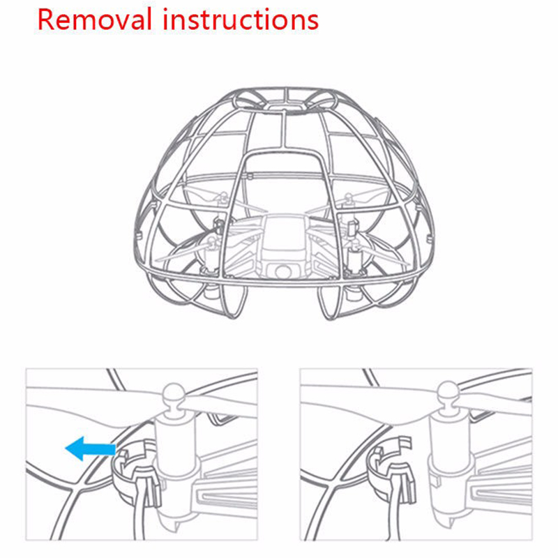 Image 2 - For Tello Drone New Spherical Protective Cage Cover Guard Light Full Protection Protector Guards Accessories.-in Drone Accessories Kits from Consumer Electronics