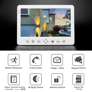 Image 2 - HomeFong 10 inch Video Door Phone Wired Video Intercom for Home Monitor  Doorbell Camera  Support Motion Detection Electric Lock