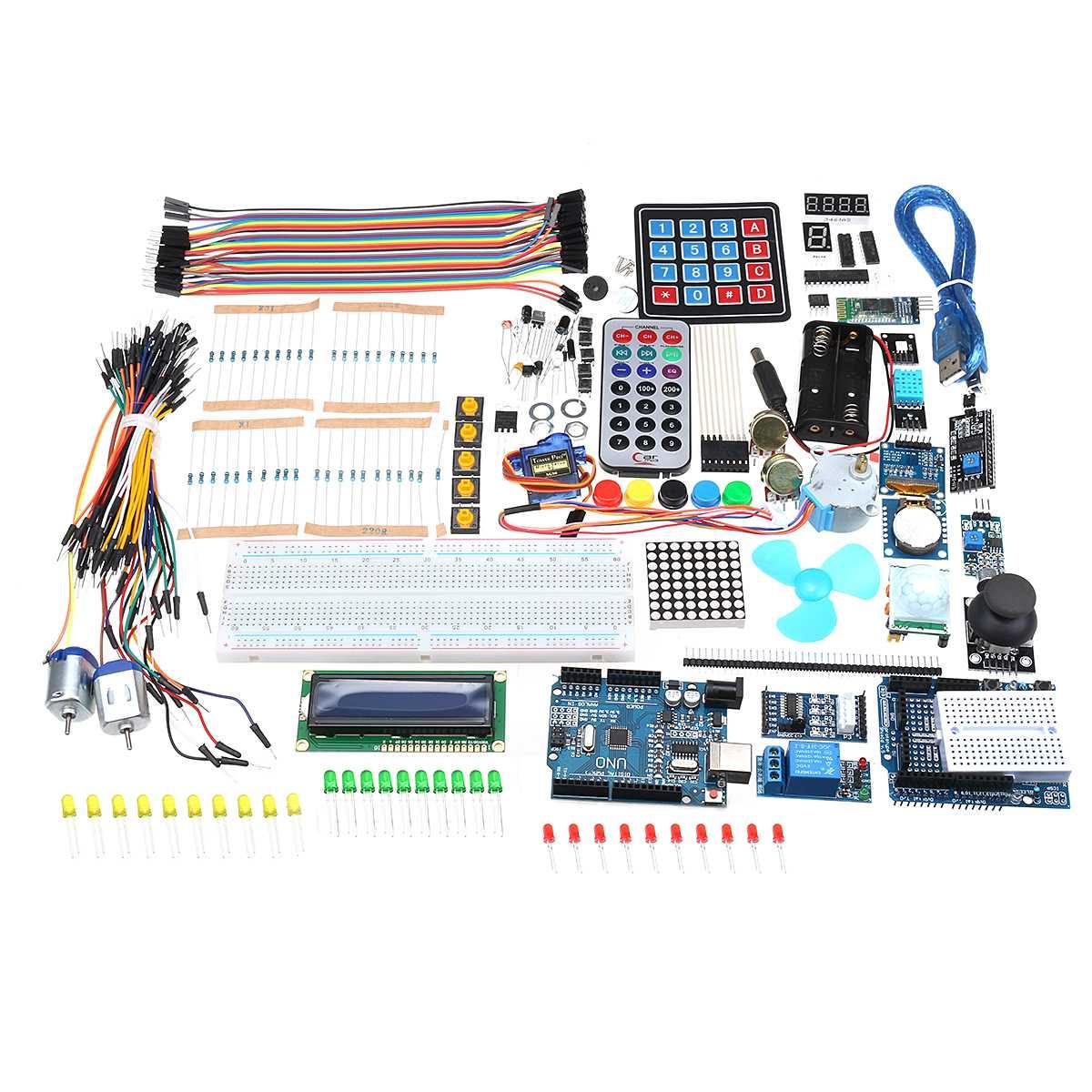 Pour UNO R3 Kit de démarrage avec OLED SPI bluetooth LCD1602 RTC DHT11 pour Version Arduino SMD