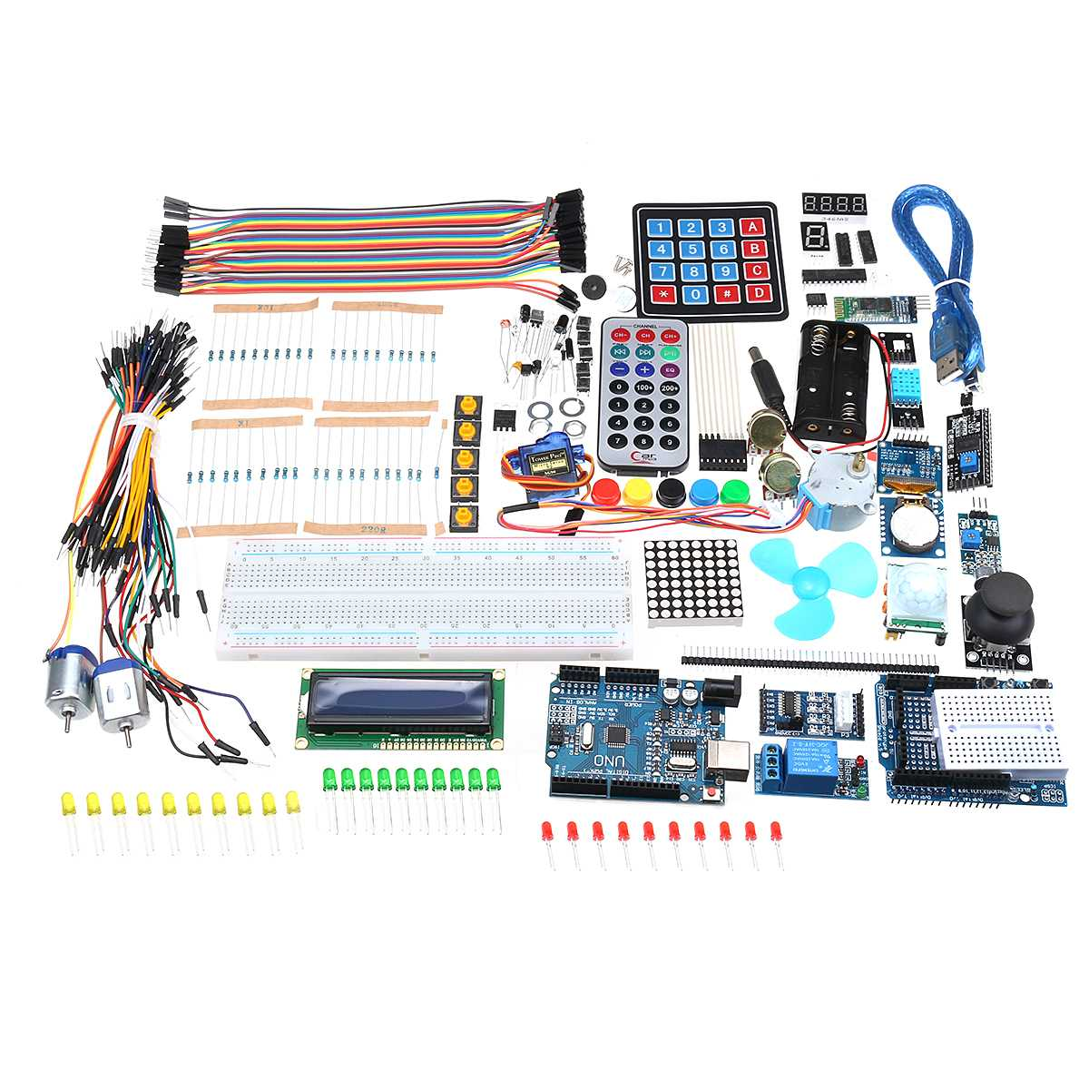 Pour UNO R3 Starter Kit Avec OLED SPI Bluetooth LCD1602 RTC DHT11 Pour Arduino SMD Version