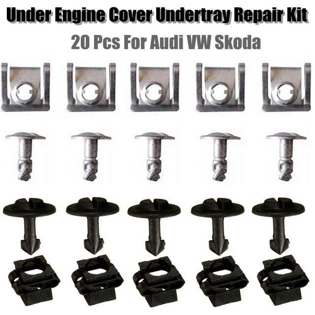 20PCs/Set  Under Engine Gearbox Cover Screw for VW Passat B5 for Audi A4 A6 Models 8D0805960 8D0805121