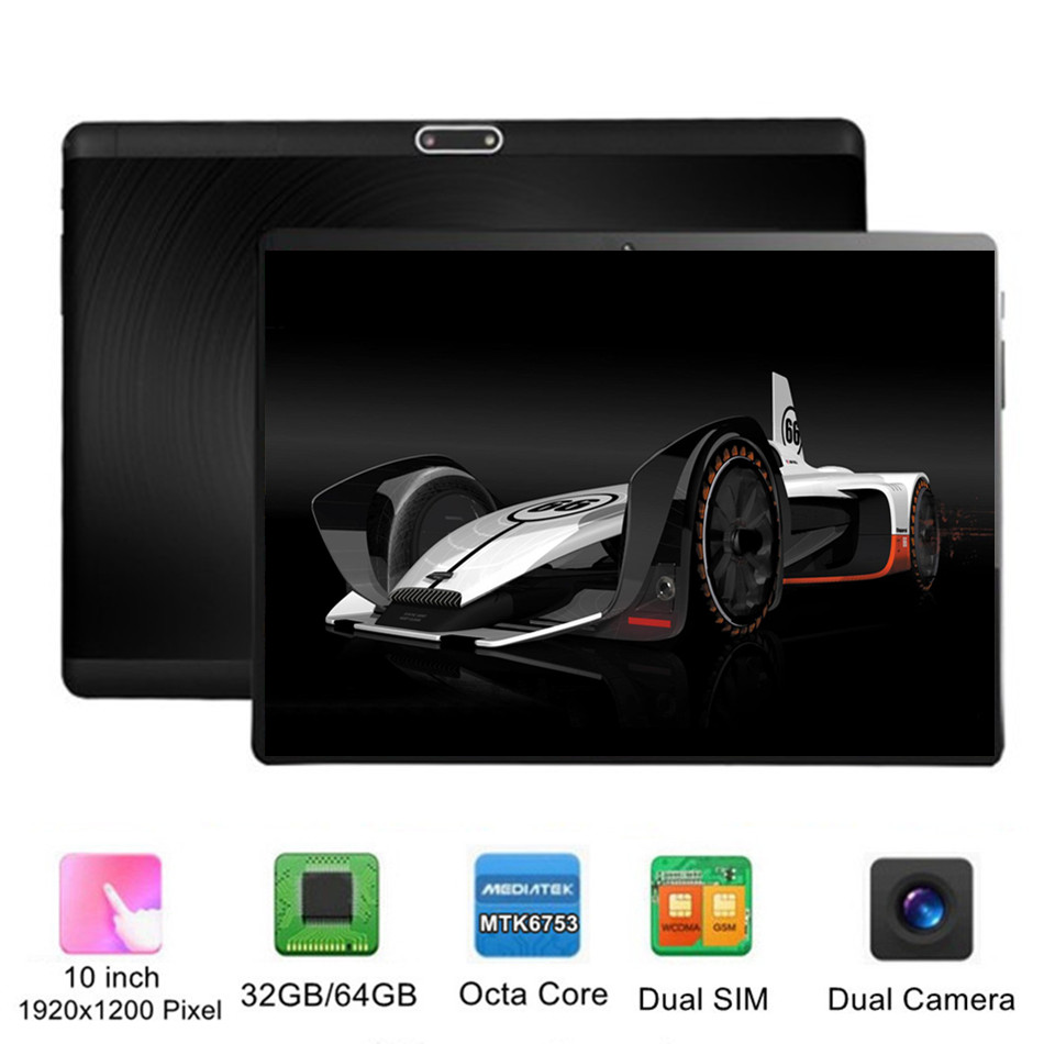 KUHENGAO Google Android 10 Inch 4G LTE Wifi Tablet Dual SIM Card Cell Phone Tablets PC 8-Core IPS 1200x1920