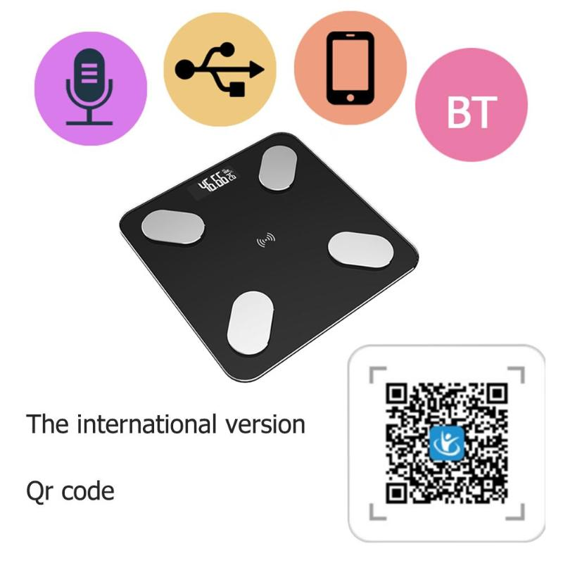 0.1kg -180kg Bathroom Scales Body Fat Scale LCD Digital Smart Voice Bluetooth APP Electronic Scales Body Composition Analyzer