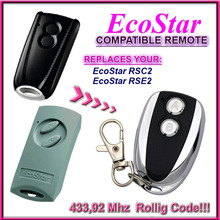 Ecostar RSC2 RSE2 שלט רחוק 433.92mhz תואם החלפת הורמן EcoStar RSE2 RSC2 433.92mhz שלט רחוק