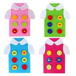 Дети резьбы Швейные Кнопки сборка мультфильм Пазлы игрушки Детские творческие DIY ремесла одежда игрушки, детские развивающие игрушки
