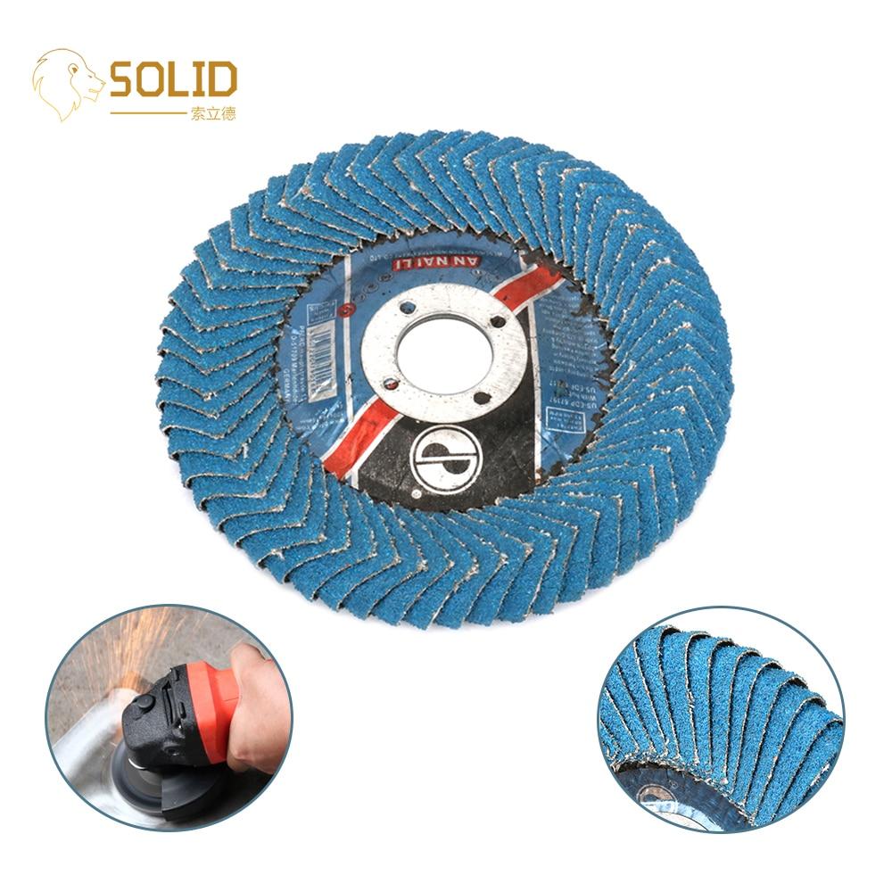 2Pcs 4 Inch Flap Sanding Disc Round Abrasive Polishing Wheel 5/8