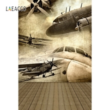 Laeacco Plane Take Off Airport Cloud Scenic Photography Backgrounds Summer Photocall  Photographic Backdrops For Photo Studio