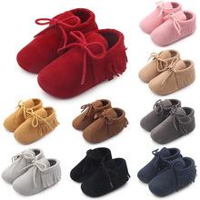 Baby Girl Shoes Boy Girl Soft moccs Fringe miękkie Soled obuwie płytkie noworodka mokasyny na jesień wiosna Baby buty dziewczyny tanie tanio Dziecko First Walkers Dziewczynka Pasuje do rozmiaru Weź swój normalny rozmiar Tkanina bawełniana Wszystkie sezony Sznurowane