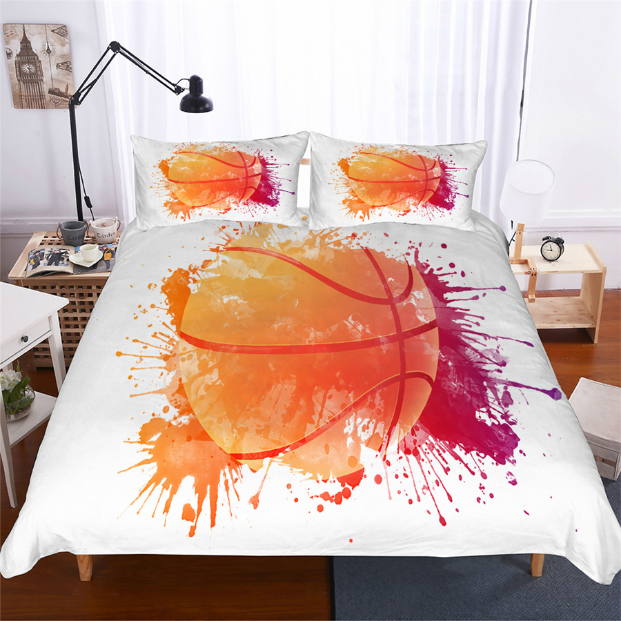 Bedding Set 3D Printed Duvet Cover Bed Set Basketball Home Textiles For Adults Lifelike Bedclothes With Pillowcase LQ09